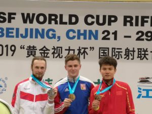 ELEY athletes Sergey Kamenskiy and Filip Nepejchal silver and gold medal in 50m 3P ISSF Beijing World cup 2019