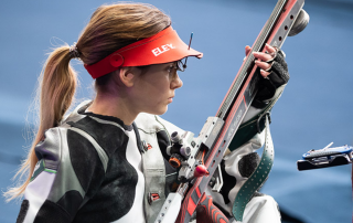 Sanja Vukasinovic competing in New Delhi 2019 3P rifle final