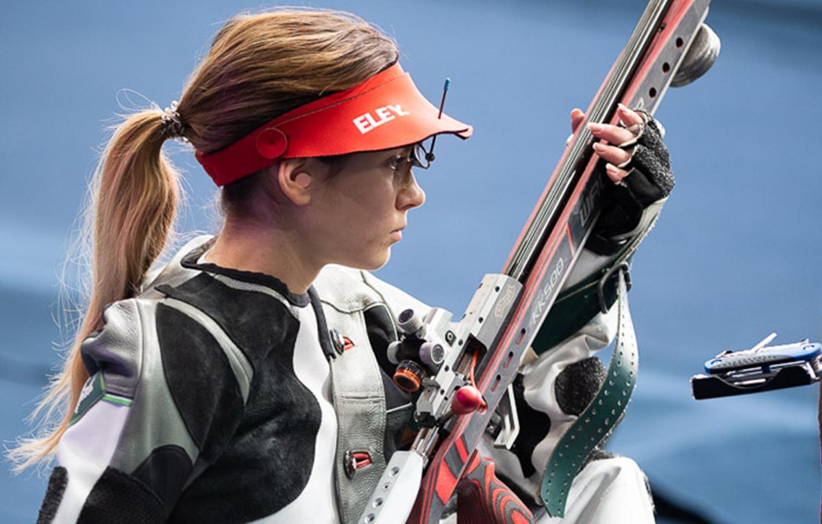 Sanja Vukasinovic competing in New Delhi 2019 3P rifle final