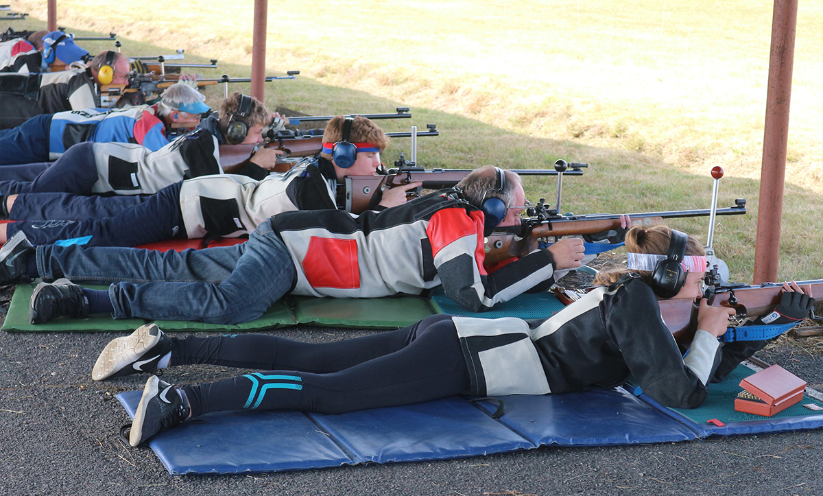 Competitors at Bisley