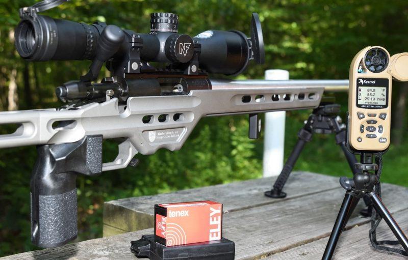 Long range .22lr shooting competition set up