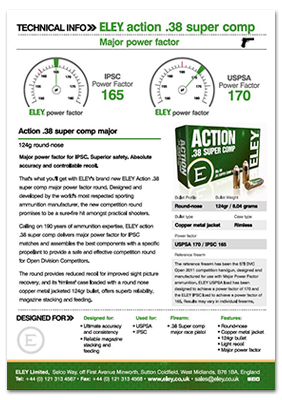 Download the .38 super comp major technical data sheet