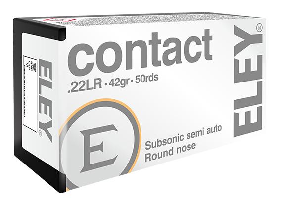 ELEY contact .22LR recreational ammunition