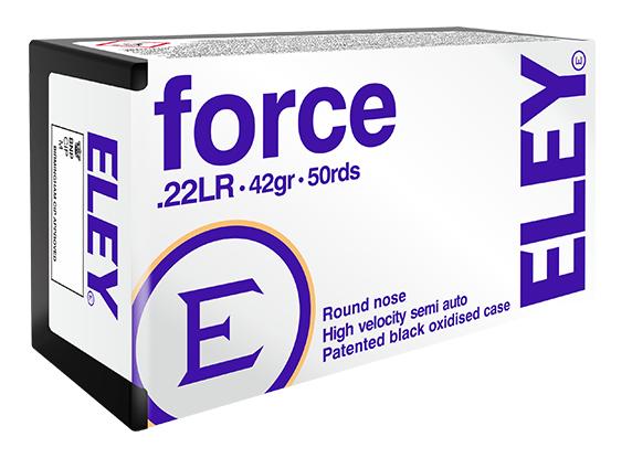 ELEY force .22LR recreational ammunition