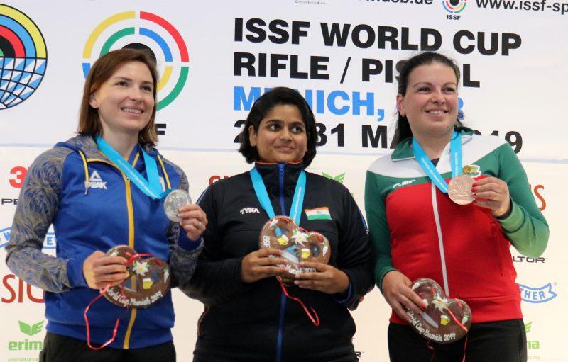 ISSF World Cup Munich - 25m Women's Pistol podium