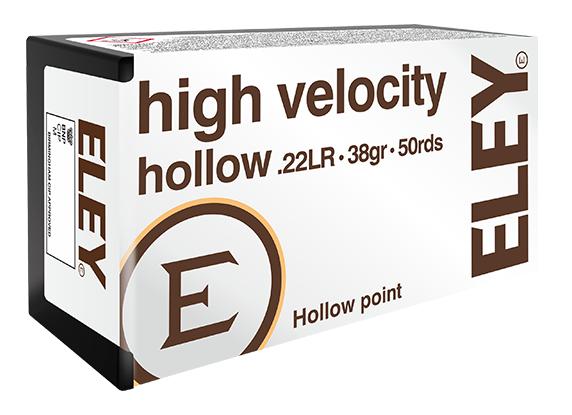ELEY high velocity hollow .22LR hunting rifle ammunition