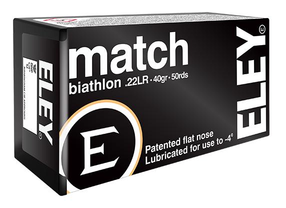 ELEY match biathlon .22LR biathlon ammunition