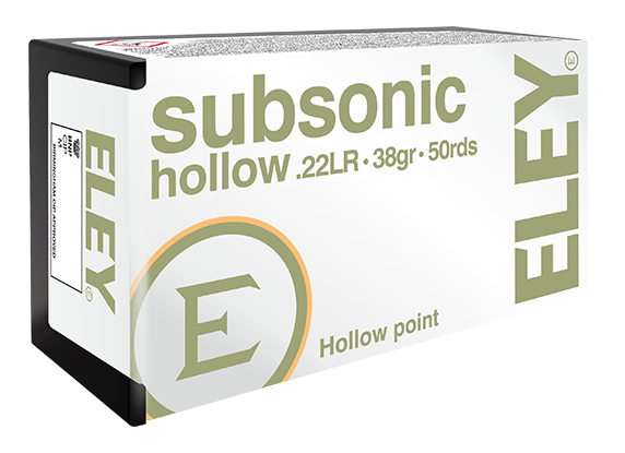 ELEY subsonic hollow 22LR hunting ammunition