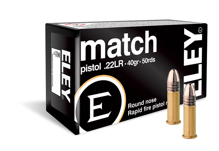 ELEY match pistol 22lr ammunition - The world's most accurate pistol ammunition