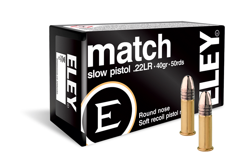 ELEY match slow pistol 22lr ammunition - The world's most accurate low recoil pistol ammunition