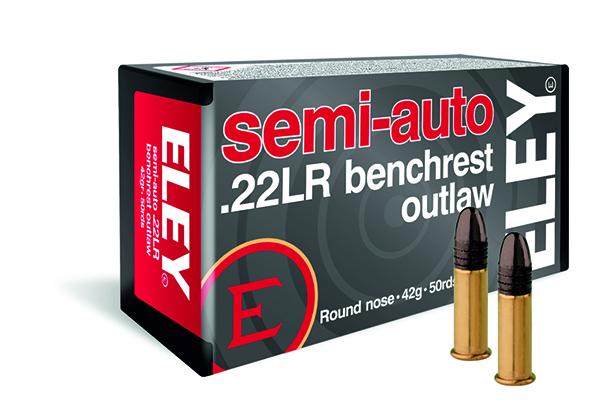 ELEY semi-auto benchrest outlaw .22LR ammunition
