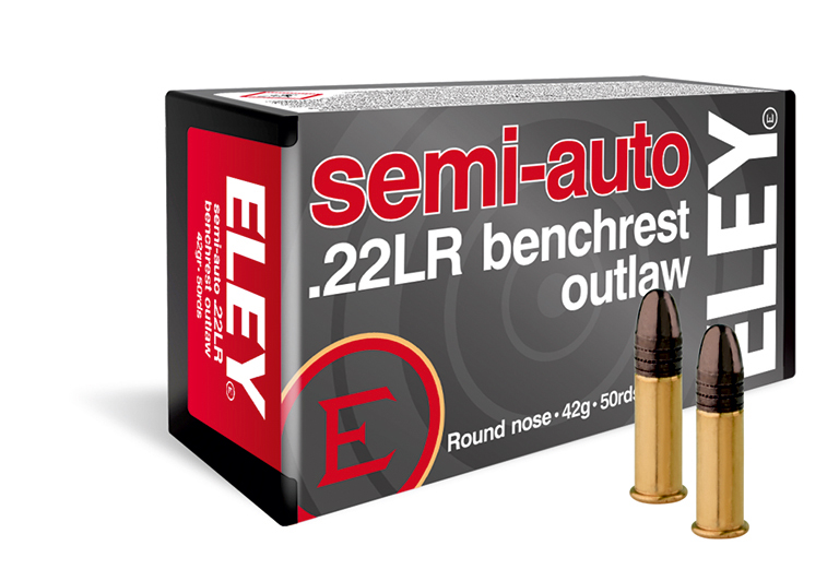 ELEY semi-auto benchrest outlaw 22lr ammunition - The world's most accurate benchrest rifle ammunition