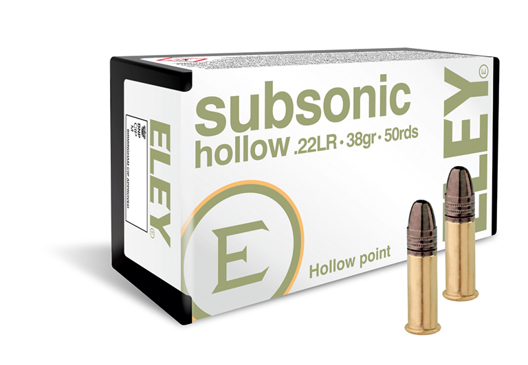 ELEY Subsonic Hollow 22lr ammunition - The world's most accurate .22LR hunting ammunition