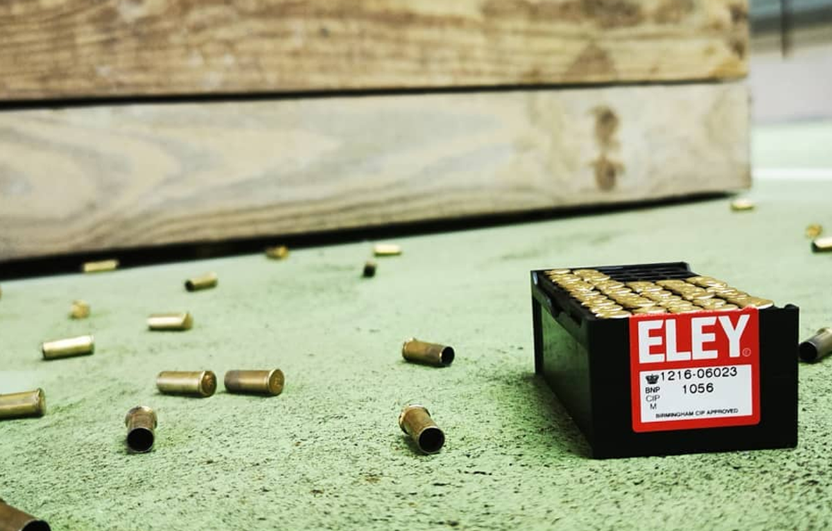 ELEY tenex rounds on the range floor