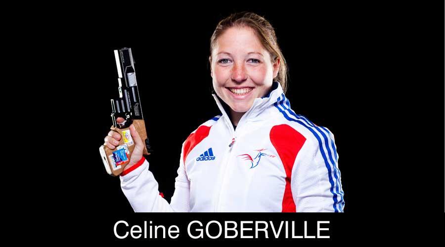Celine Goberville 10m Air Pistol shooter
