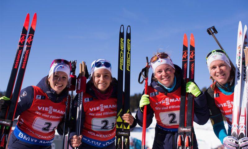 French biathlon team at the IBU World Cup