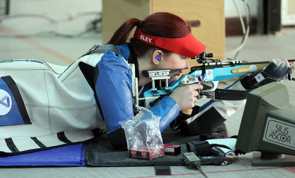 Jen McIntosh shooting Prone