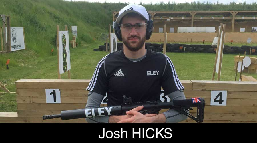 Josh Hicks ELEY sponsored shooter