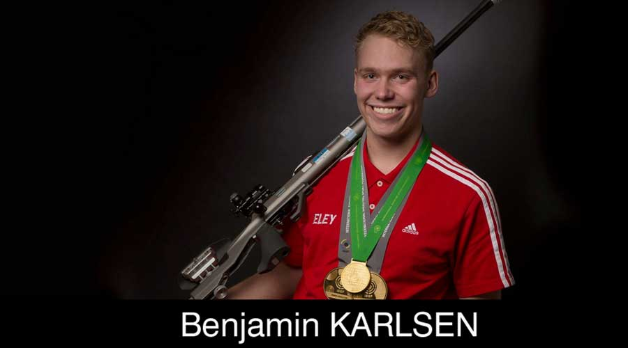 Benjamin Karlsen ELEY sponsored shooter