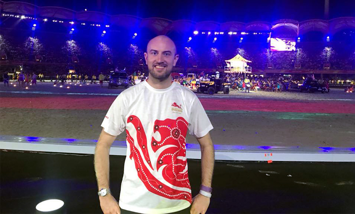 Ken Parr at the Commonwealth Games