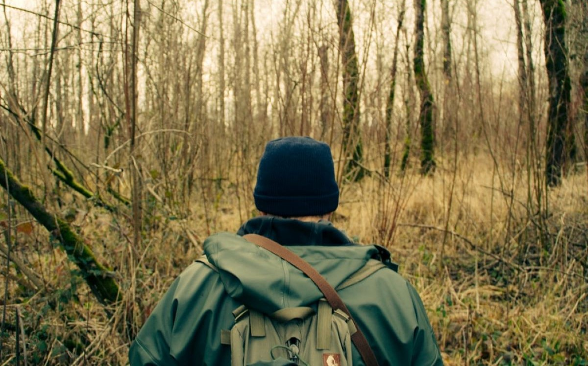 Man with hunting kit bag- Kyle Glenn
