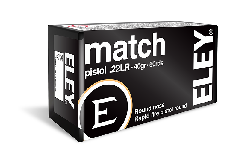 ELEY match pistol - The world's most accurate .22LR pistol ammunition