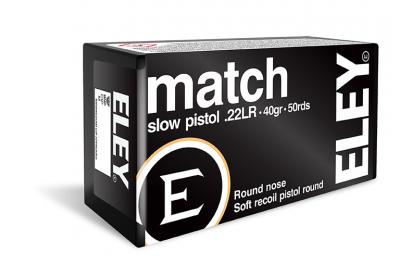 Match slow pistol .22LR ammunition