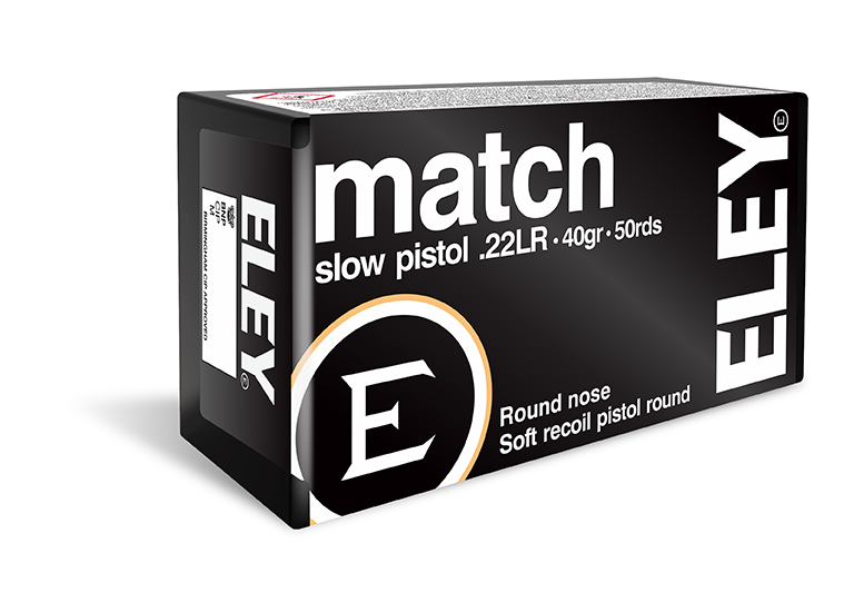 ELEY match slow pistol - The world's most accurate low recoil .22LR pistol ammunition