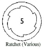 Ratchet rifling variation