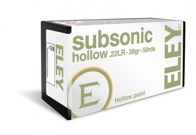 Subsonic Hollow .22LR ammunition