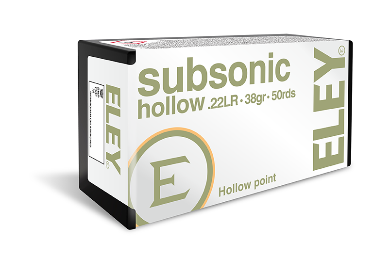ELEY Subsonic Hollow - The world's most accurate .22LR hunting ammunition