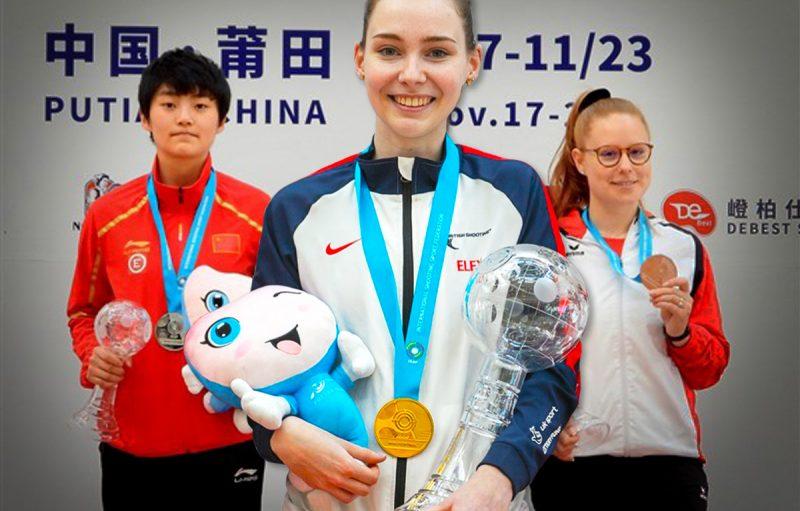 World Cup Final - 50m 3P women's podium