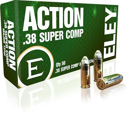 ELEY action .38 super comp major 124gr