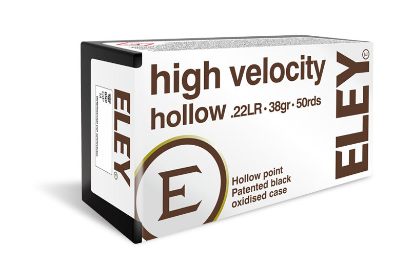 ELEY high velocity hollow 22LR hunting ammunition