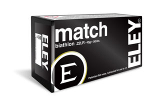 ELEY match biathlon .22LR ammunition