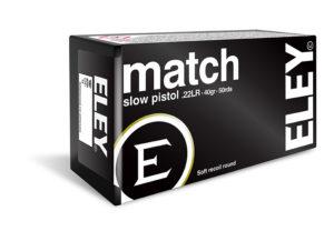 ELEY match slow pistol .22LR ammunition
