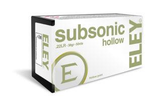 ELEY subsonic hollow .22LR ammunition